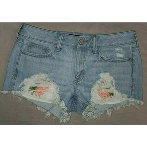 Express Relaxed Low Rise Shortie Jean Shorts